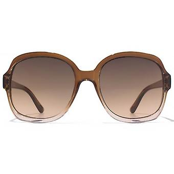 American Freshman Glamour Square Sunglasses In Brown To Pink Gradient