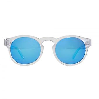 Levis Keyhole Round Sunglasses In Clear Polarised