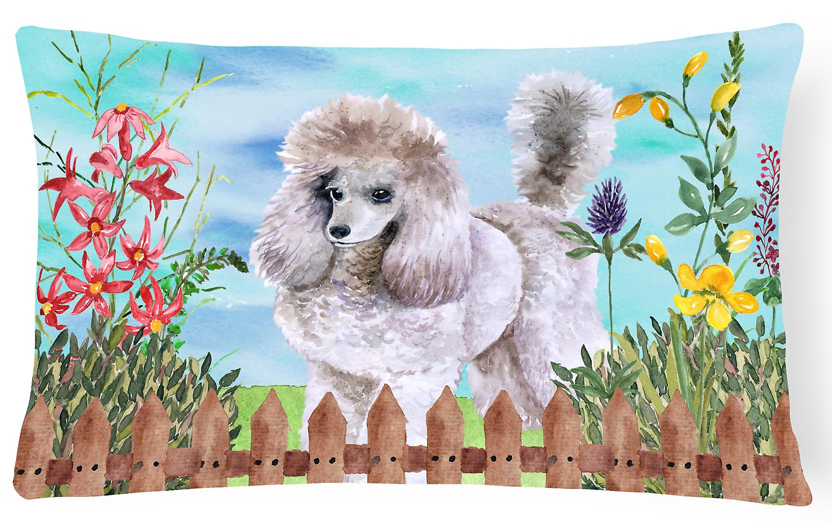 Poodle Spring Canvas Carolines Treasures Decorative Ck1227pw1216 Fabric Pillow xBdoCe