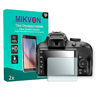 Nikon D3400 Screen Protector - Mikvon Clear (Retail Package with accessories)