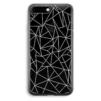 iPhone 7 Plus przezroczysty (Soft) - geometryczne linie białe