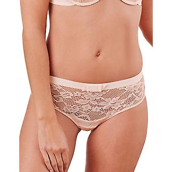 Guy de France 910682-181-113 Women's Pink Solid Colour Lace Knickers Panty Brief