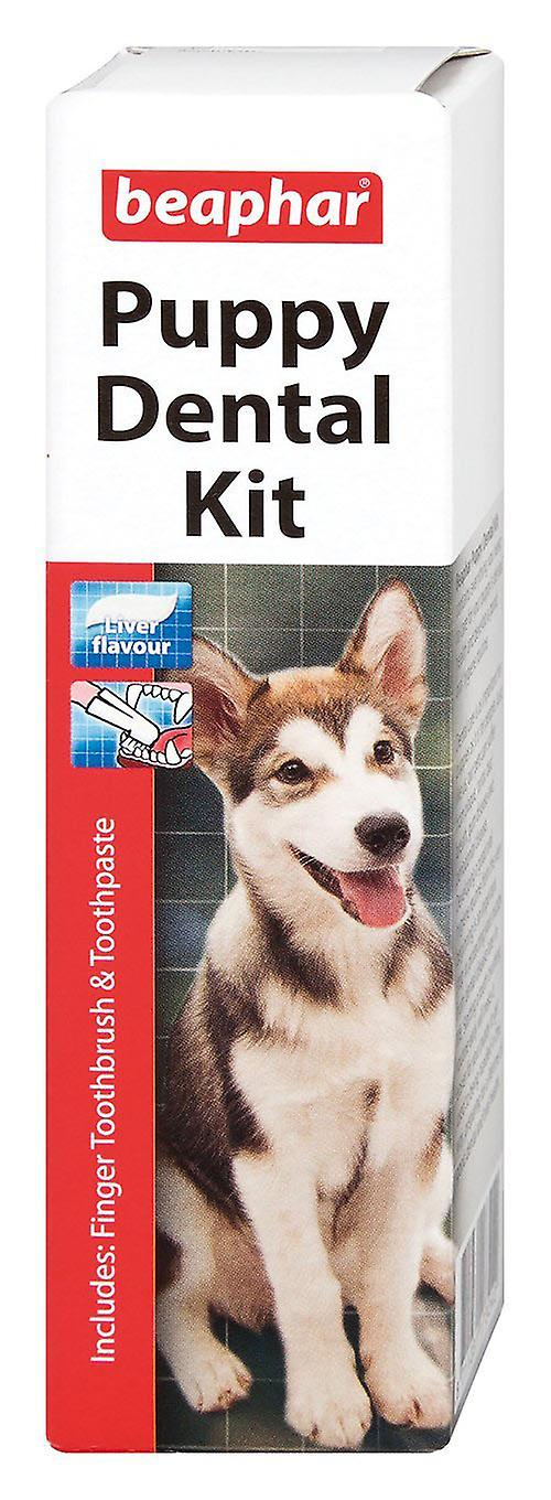 Beaphar Puppy Kitten Dental Kit Dogs & Cats Meat Flavour Anti-Plaque