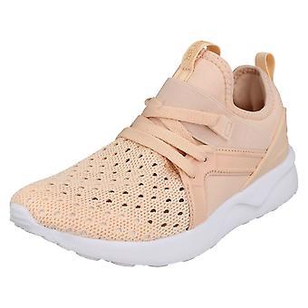 Ladies Reflex Lace Up Trainers F7099 - Pink Textile - UK Size 7 - EU Size 40 - US Size 9
