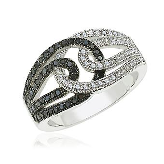 Orphelia Silver 925 Ring B&W  Zirconium   ZR-3918