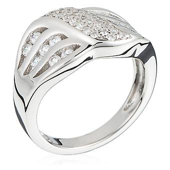 Orphelia plata 925 anillo plegable circonio Pave ZR-3880