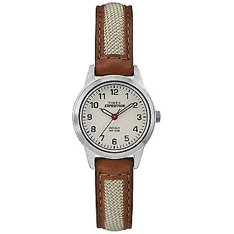Timex campo Mini couro Tan Natural Dial-TW4B11900 Watch