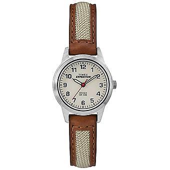 Timex fältet Mini Tan läder naturliga Dial TW4B11900 Watch