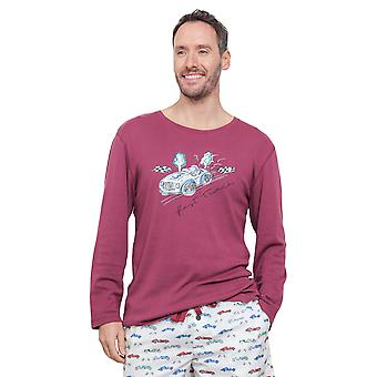 Cyberjammies 6287 Men's Austin Red Pajama Pyjama Top