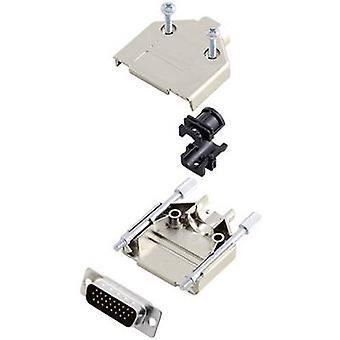 encitech DTPK15-M-HDP26-K D-SUB pin strip set 180 ° Number of pins: 26 Solder bucket 1 Set