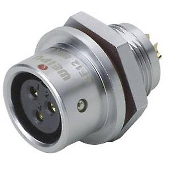 Weipu SF1212/S4 Bullet connector Connector, straight Series (connectors): SF12 Total number of pins: 4 1 pc(s)