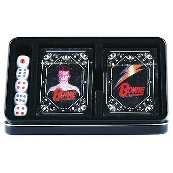 David Bowie Double Set Of 52 Playing Cards & Dice In Tin