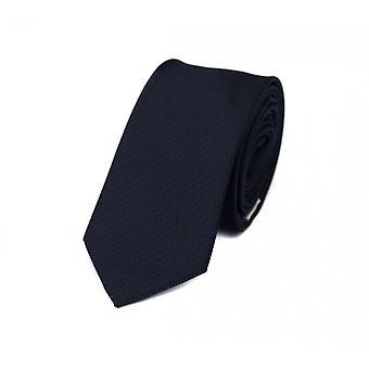 Tie stropdas stropdas tie 6cm Zwart Blauw gestreept Fabio Farini