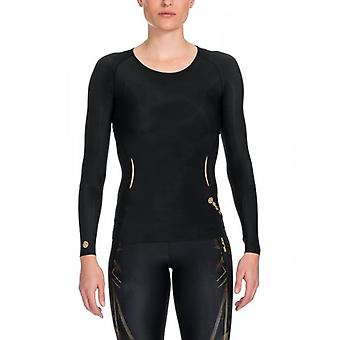 SKINS A400 women of top Long Sleeve black / gold B33156005
