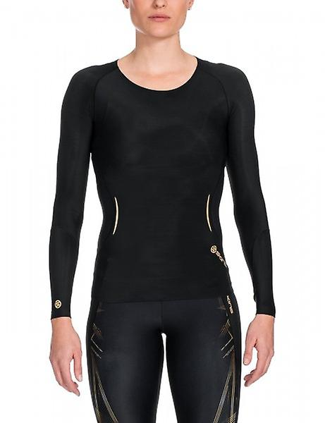 SKINS A400 Women's Top Long Sleeve black/gold B33156005