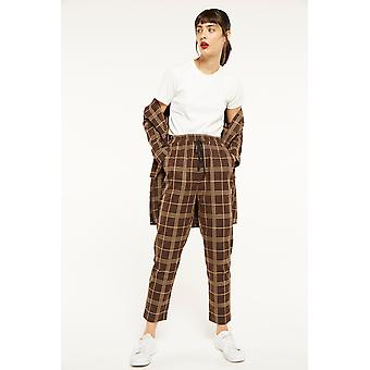 Ghospell Check Tailored Trousers