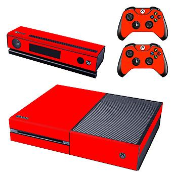 REYTID Red Xbox One Console Skin / Sticker + 2 x Controller Decals & Kinect Wrap - Full Set - Microsoft XB1