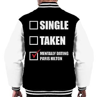 Mentally Dating Paris Hilton Men's Varsity Jacket