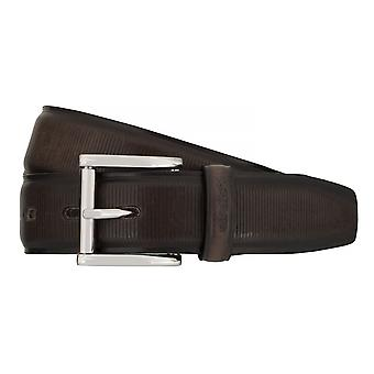 Strellson belts men's belts leather belt grey 7566