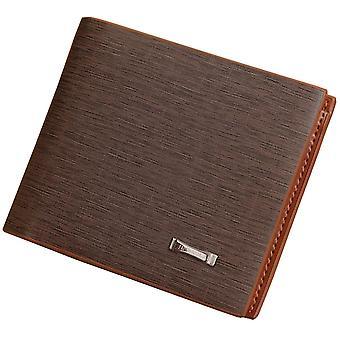 GENUINE Leather Wallet Men's Brown Money Cash Purse ID Holder