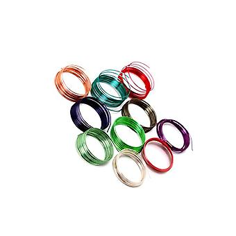 10 x Mixed Enameled Copper 0.5mm x 1m Round Craft Wire Coils X1735