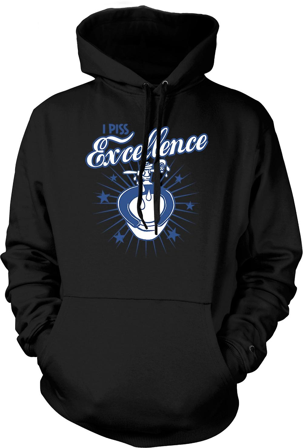 Mens Hoodie - I Piss Excellence - Funny