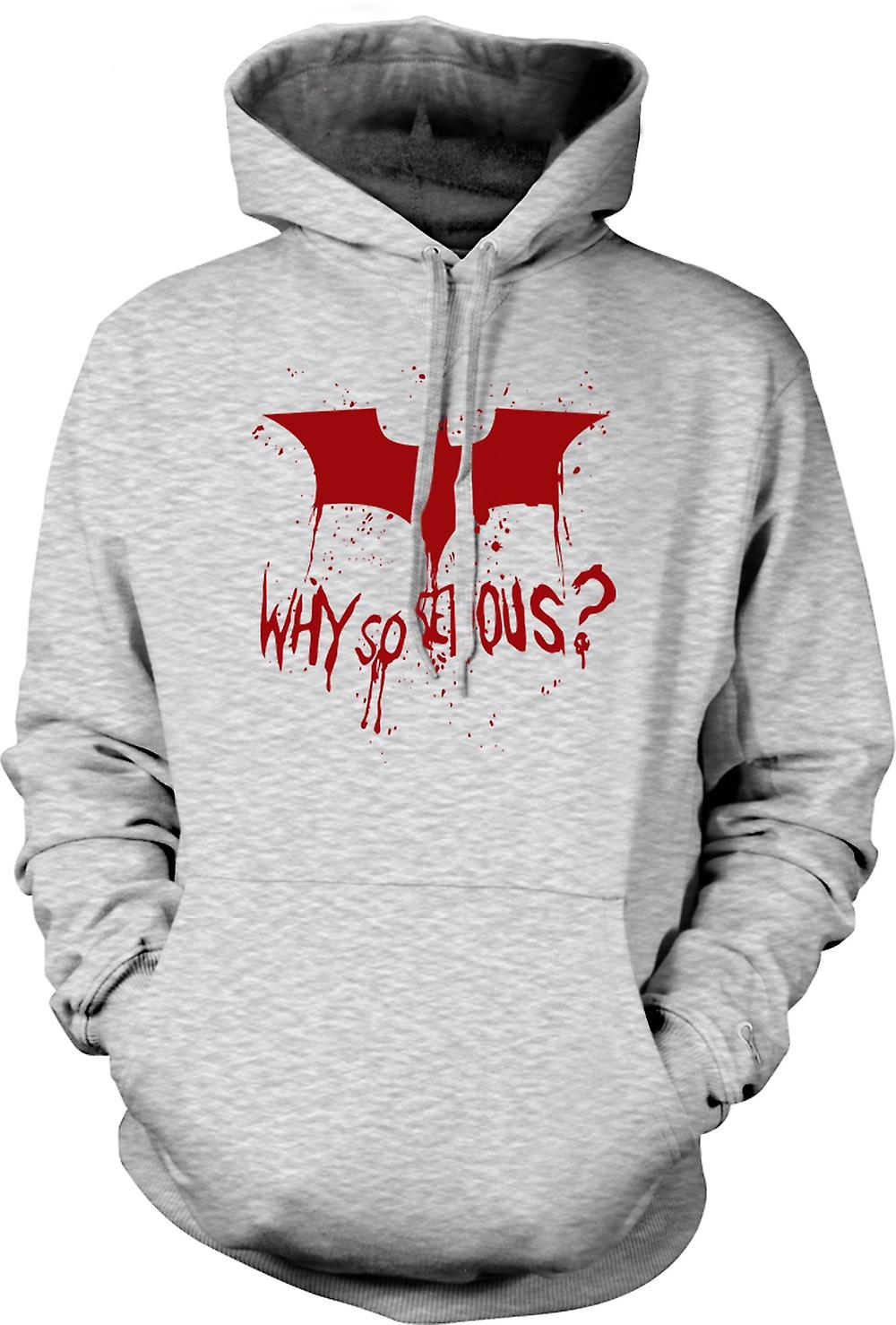 Mens-Hoodie - Batman Logo - warum So ernst