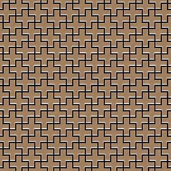 Mosaico de metal sólido Titanio ALLOY Swiss-Cross-Ti-AB