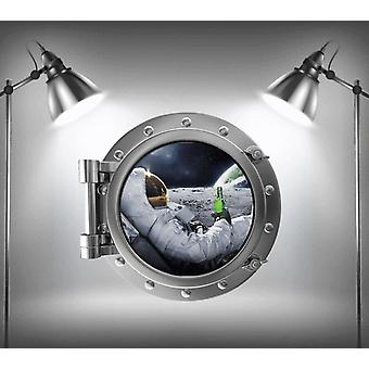 Full Colour Astronaut 4 Porthole Wall Sticker