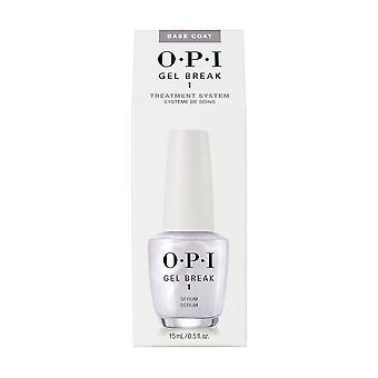 OPI Nail Treatment Gel Break Infused Base Coat Serum, .5oz