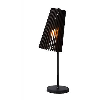Lucide Noralie skandinavischen Dreieck Holz schwarz Tischlampe
