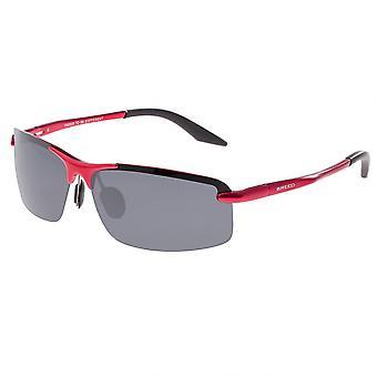 Breed Lynx Aluminium Polarized Sunglasses - Red/Black