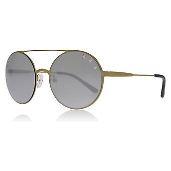 Michael Kors MK1027 11936G Pale Gold MK1027 Round Sunglasses Lens Category 3 Lens Mirrored Size 55mm