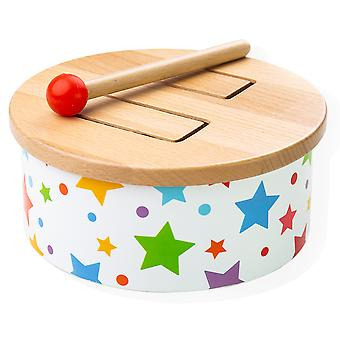 Bigjigs Toys Children's Wooden Drum - Kid's Musical Instruments