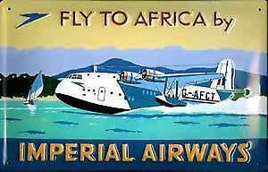 Imperial Airways Flying Boat embossed steel sign