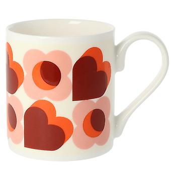 Orla Kiely cuori rosa Bone China Mug