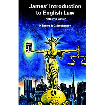 James Introduction to English Law by Shears & Peter