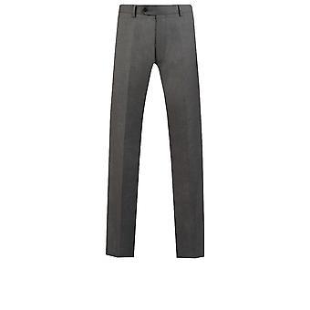 Dobell Mens Light Grey Suit Trousers Regular Fit Travel/Performance