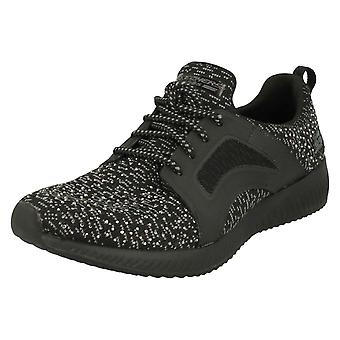 Ladies Skechers Lace Up Trainers Sky Write
