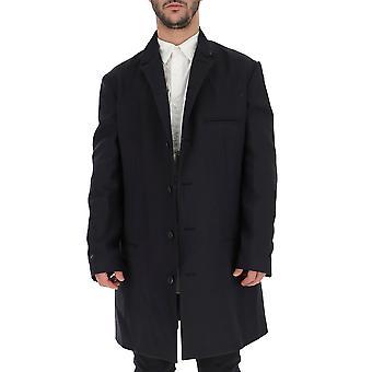Yohji Yamamoto Black Cotton Coat