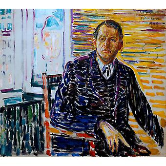Portrait, Edvard Munch, 50x45cm