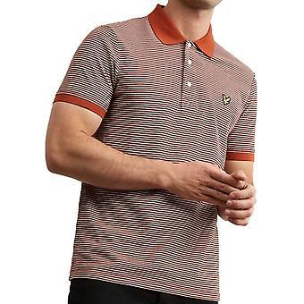 Lyle And Scott Feeder Stripe Polo Shirt   Spice