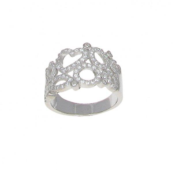Cavendish French Heart and Loops CZ Ring