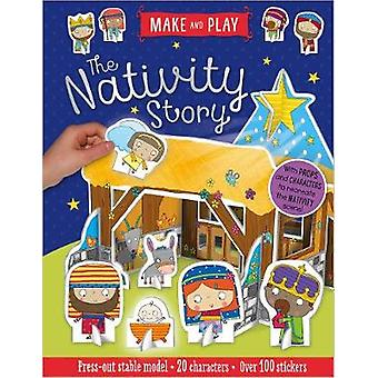 Make and Play - The Nativity Story - Press-Out Stable Model * 20 Charac