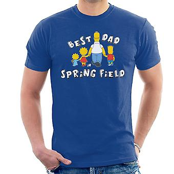 The Simpsons Best Dad In Springfield Men's T-Shirt