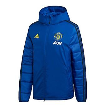 2019-2020 Man Utd Adidas Winter Training Jacket (Blue)