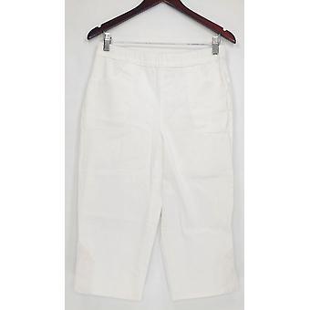 Denim & Co. vrouwen ' s broek pull op stretch Capri wit A288103