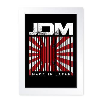 JDM stregkode lavet i Japan, indrammet print-Home Decor køkken badeværelse mand hule skur garage væg kunst