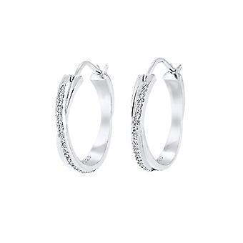 Elli Silber Damen Ohrringe 925 mit weißem Kristall 0311551516