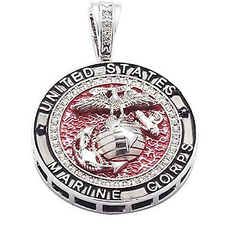 Necklace with pendant Us Marine Silver Pendant